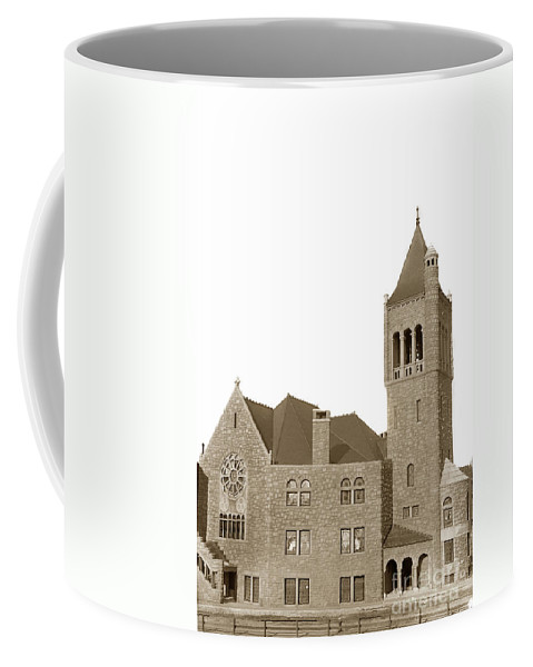 The Mother Church Coffee Mug featuring the photograph The Mother Church The First Church Of Christ Scientist Boston Massachusetts Circa 1900 by California Views Archives Mr Pat Hathaway Archives