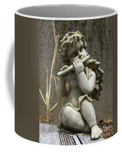 Cupid Coffee Mug featuring the photograph The Musician 02 by Peter Piatt
