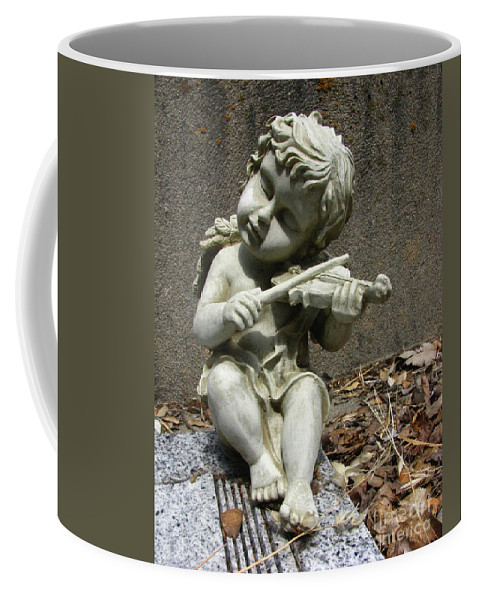 Cupid Coffee Mug featuring the photograph The Musician 03 by Peter Piatt