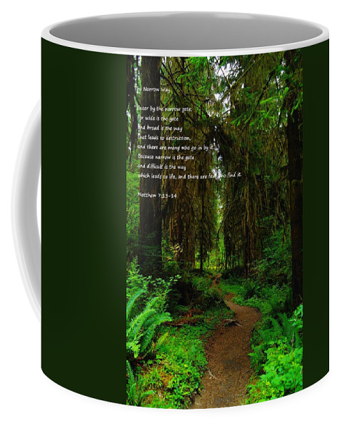 Paths Coffee Mug featuring the photograph The Narrow Way by Jeff Swan