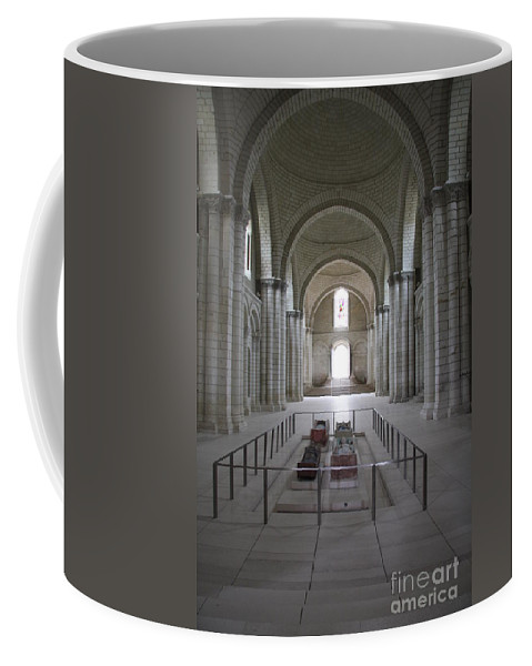 Cloister Coffee Mug featuring the photograph The Nave With Tombs Fontevraud Abbey by Christiane Schulze Art And Photography