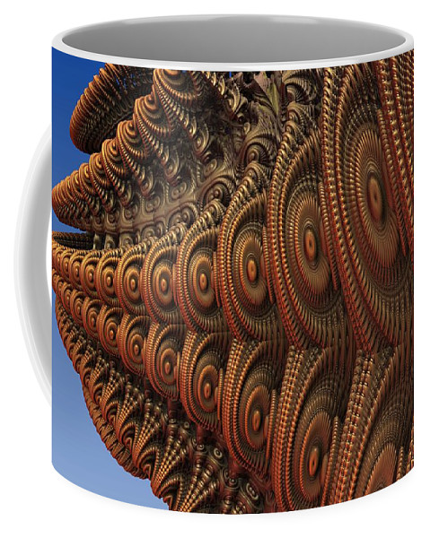 Fractal Coffee Mug featuring the digital art The Odd Beauty of Fractals by Lyle Hatch