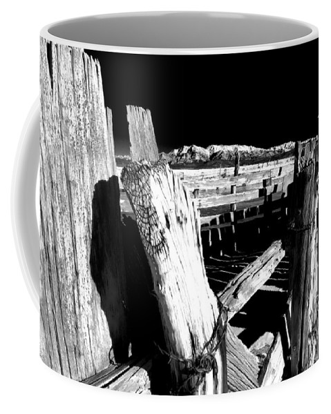 Black Coffee Mug featuring the photograph The Old Corral by Cat Connor