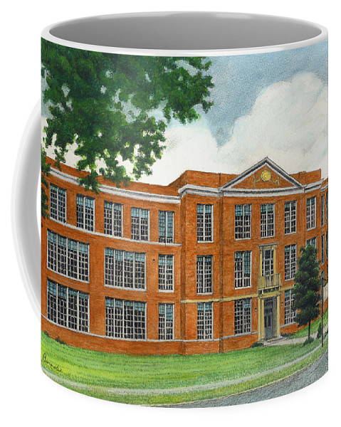 School Coffee Mug featuring the painting The Old High School by Arthur Barnes