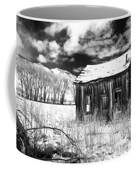 Black Coffee Mug featuring the photograph The Old Homestead by Cat Connor