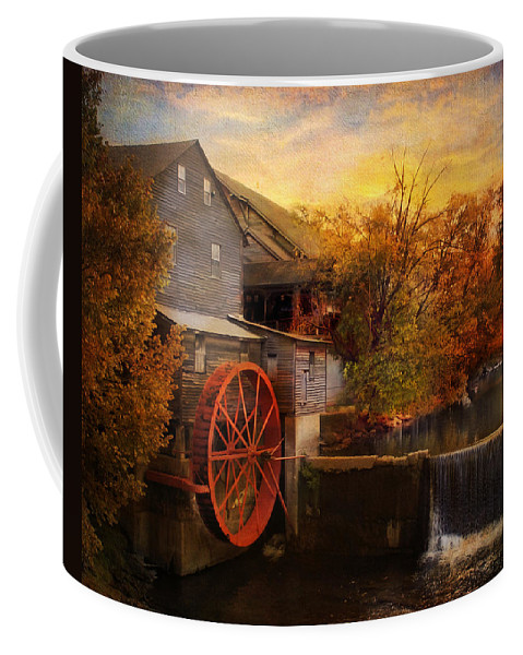 Autumn Coffee Mug featuring the photograph The Old Mill by Jai Johnson