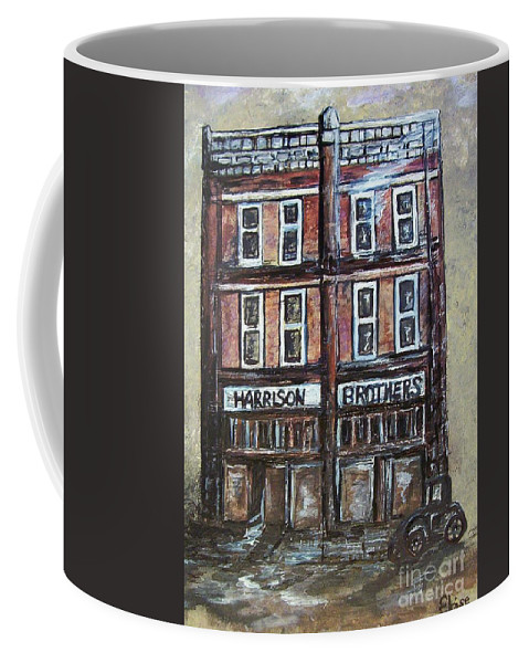 Historic Coffee Mug featuring the painting The Old Store by Eloise Schneider Mote