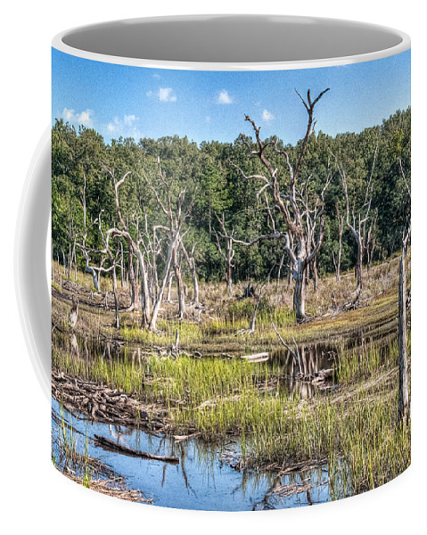 Marsh Coffee Mug featuring the photograph The Old Tree Graveyard by Scott Hansen