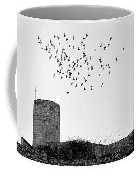 Pigeons Coffee Mug featuring the photograph The Old Windmill by Focus Fotos