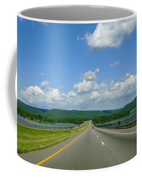 Open Road Coffee Mug featuring the photograph The Open Highway by Denise Mazzocco