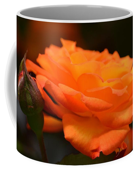 The Orange Rose Coffee Mug featuring the photograph The Orange Rose by Maria Urso
