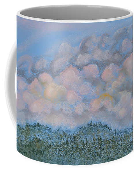 Pastels Coffee Mug featuring the pastel The Other Side Of The Sunset by Michele Myers