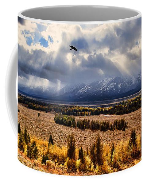 Tetons. Teton National Park Coffee Mug featuring the photograph The Overlook by Jim Garrison