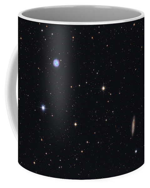 Horizontal Coffee Mug featuring the photograph The Owl Nebula And Messier 108 by Lorand Fenyes