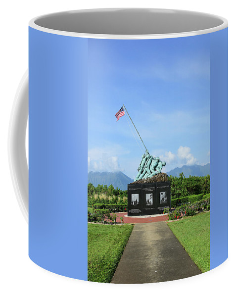 Vertical Coffee Mug featuring the photograph The Pacific War Memorial On Marine by Stocktrek Images
