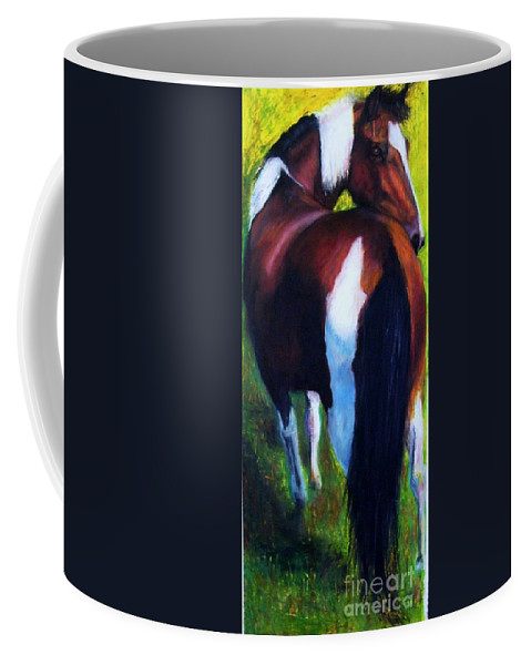 Horses Coffee Mug featuring the painting The Paint by Frances Marino