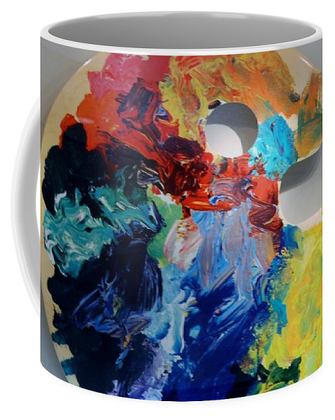 Abstract Coffee Mug featuring the photograph The Palet by Rob Hans