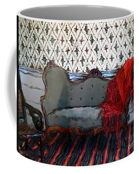 Furniture Coffee Mug featuring the painting The Parlor At Chicago Joe's by RC DeWinter