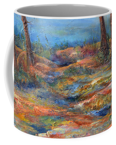 Nature Coffee Mug featuring the painting The Path 1 by Claire Bull