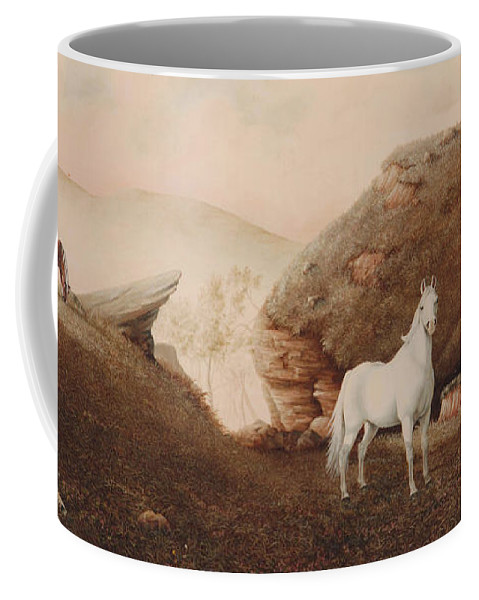 Horse Coffee Mug featuring the painting The Patriarch by Duane R Probus