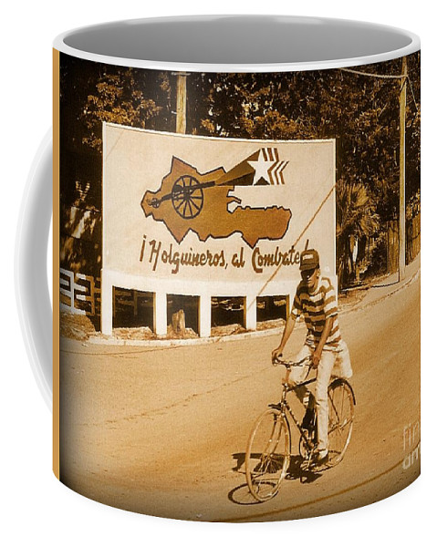 Bicycles Coffee Mug featuring the photograph The People Of Holguin Are Fighters by John Malone