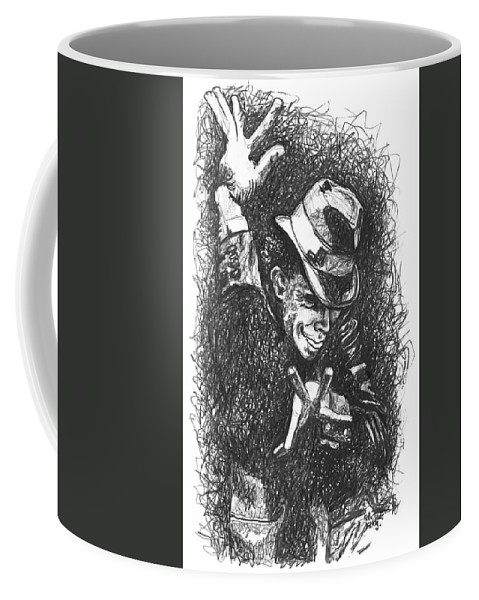 Tomwaits Coffee Mug featuring the drawing The Piano Has Been Drinking by Kelly Jade King