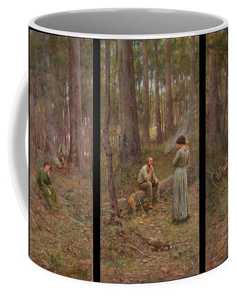 Frederick Mccubbin Coffee Mug featuring the painting The pioneer by Frederick McCubbin