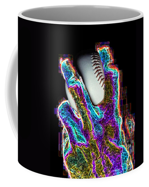 Baseball Coffee Mug featuring the photograph The Pitch by Tim Allen