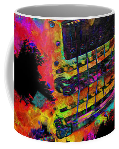 Guitar Coffee Mug featuring the digital art The Player - Guitar Art by P Donovan