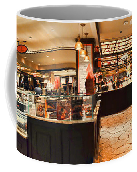 Wright Coffee Mug featuring the photograph The Plaza Food Hall by Paulette B Wright