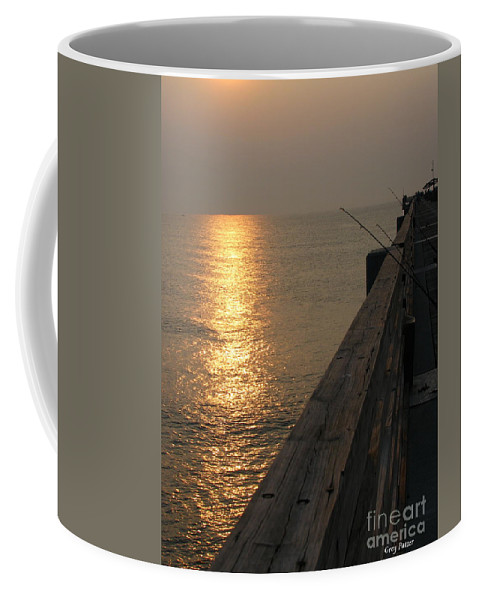 Art For The Wall...patzer Photography Coffee Mug featuring the photograph The Pole by Greg Patzer