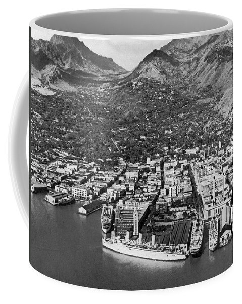 1930 Coffee Mug featuring the photograph The Port Of Honolulu by Underwood Archives