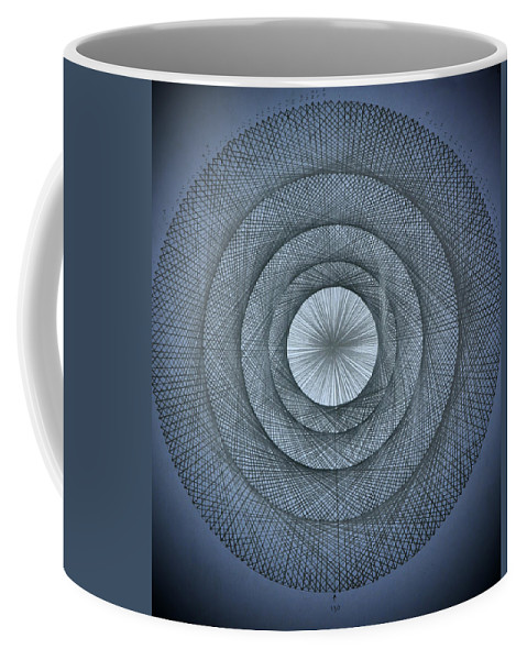 Pi Coffee Mug featuring the drawing The Power Of Pi by Jason Padgett