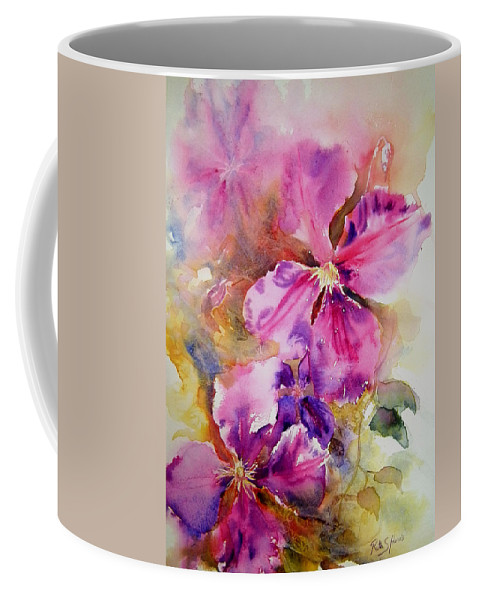 Purple Coffee Mug featuring the painting The President by Ruth Harris