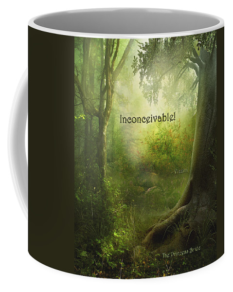 Featured Coffee Mug featuring the digital art The Princess Bride - Inconceivable by Paulette B Wright