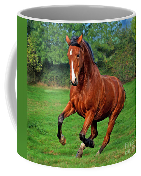 Horse Coffee Mug featuring the photograph The Pure Power by Angel Tarantella