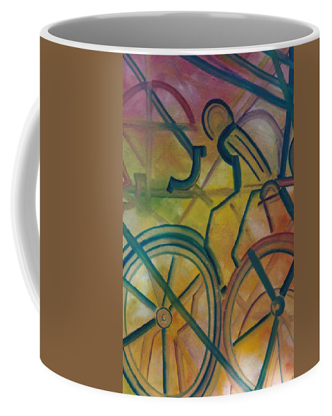 Race Coffee Mug featuring the painting The Race by Lord Frederick Lyle Morris