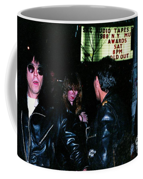 Punk Rock Coffee Mug featuring the photograph The Ramones 1988 by Ed Weidman