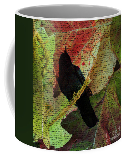 The Raven Coffee Mug featuring the photograph The Raven By Edgar Allan Poe by Jacklyn Duryea Fraizer