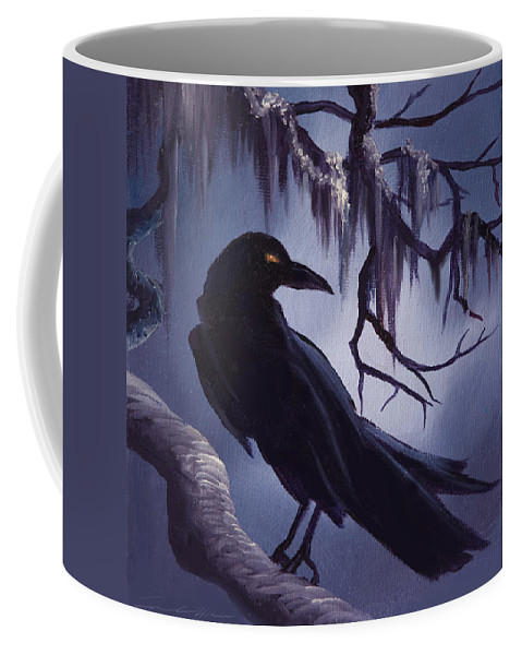 James C. Hill Coffee Mug featuring the painting The Raven by James Christopher Hill