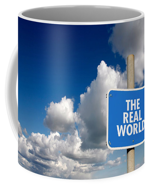 Display Coffee Mug featuring the digital art The Real World by Steve Ball