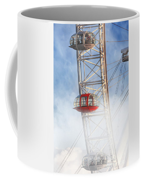 Architecture Coffee Mug featuring the photograph The Red Capsule by Istvan Kadar