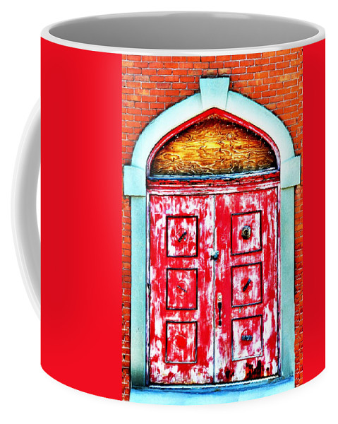 Butte Coffee Mug featuring the photograph The Red Door by Image Takers Photography LLC - Laura Morgan