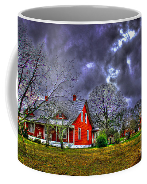 Oconee County Coffee Mug featuring the photograph The Red House by Reid Callaway