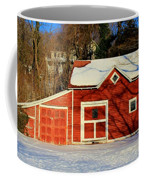 Karen Silvestri Coffee Mug featuring the photograph The Red Shed by Karen Silvestri