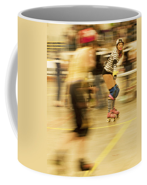 Roller Derby Coffee Mug featuring the photograph The Ref by Theresa Tahara