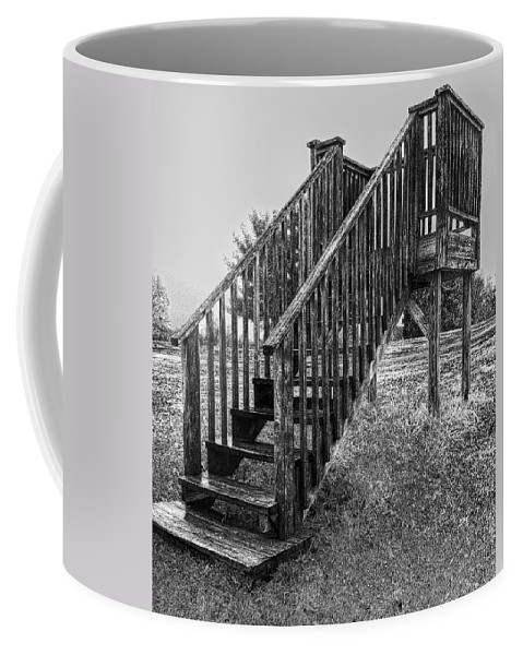 Golf Coffee Mug featuring the photograph The Referee's Stand by C H Apperson