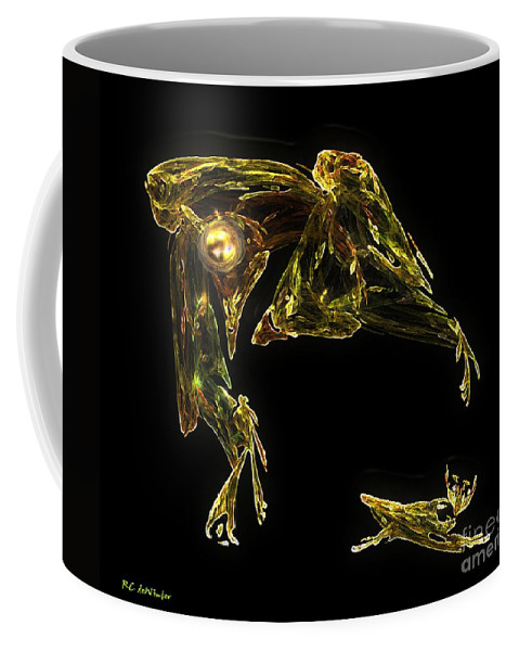 Cat Coffee Mug featuring the digital art The Reluctant Familiar by RC deWinter