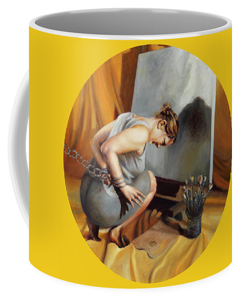 Shelley Irish Coffee Mug featuring the painting The Restricted by Shelley Irish
