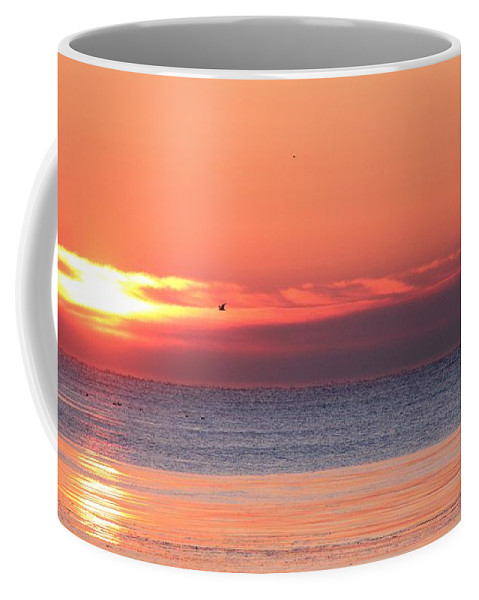 Outdoors Coffee Mug featuring the photograph The Rising Sun by Davandra Cribbie